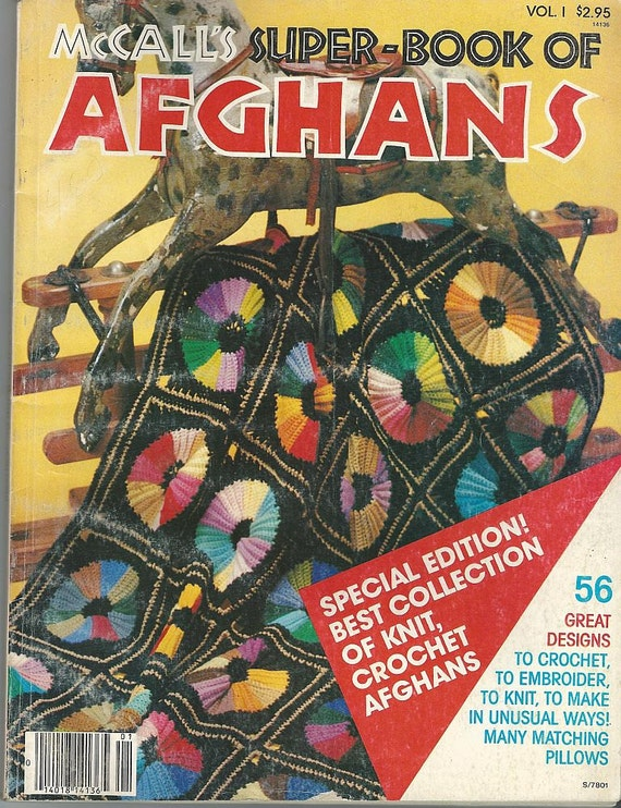 1978 Mc Calls Afghans Pattern Book