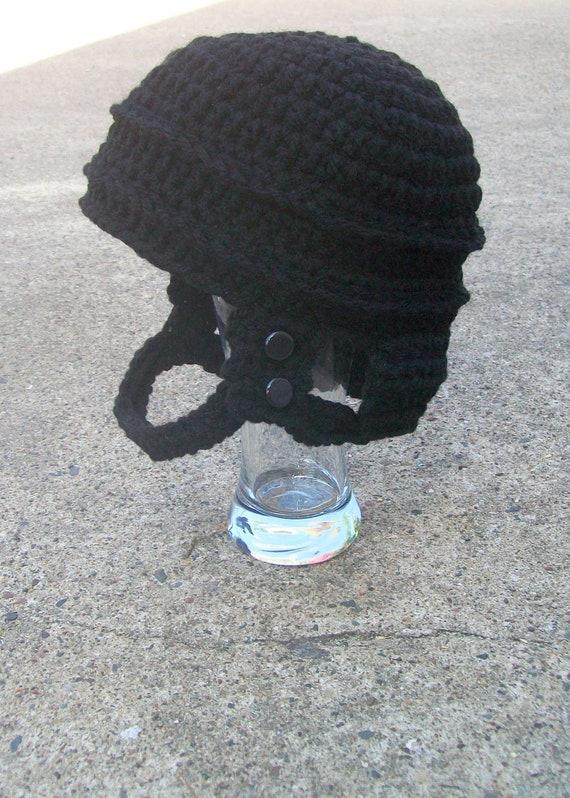 PDF CROCHET PATTERN: The Hockey Helmet, Photo Prop ...