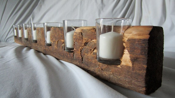 Like this item? - Reclaimed Wood Candle Holder 7 Lights