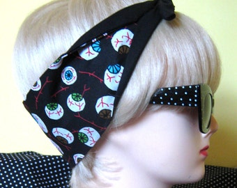 Eyeball Hair Tie Psychobilly Monster gore horror by Dolly Cool