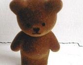 Flocked Baby Bear -- vintage  Sylvanian Style figure from Barenwald/Simba