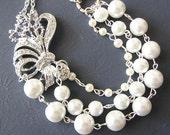 Bridal Necklace Vintage Wedding Jewelry Pearl Necklace Bridal Jewelry Statement Necklace Multi Strand