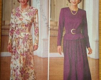 MOB Dress Two Piece Look Peplum A Line Skirt Butterick 3546 12 14 16