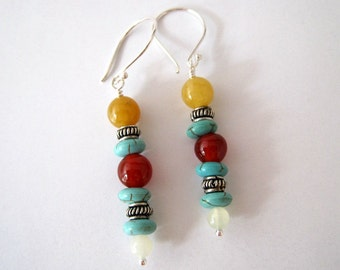 Desert Inspired Gemstone Earrings