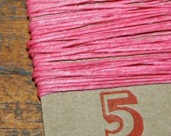 5 yards PINK waxed Irish Linen Thread