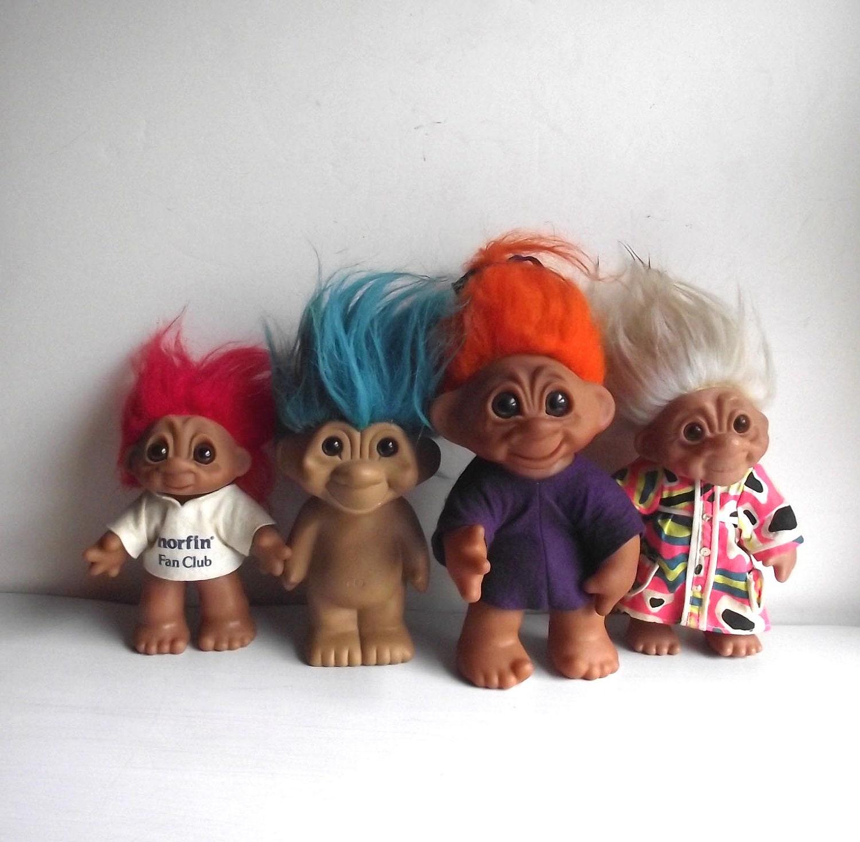 Hold 4 TrollsbyTed Russ Trolls Dam Trolls Doll Mixed Lot 70s