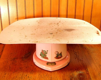 Vintage Baby Scale, Pink Baby Scale, Nursery Decor, Baby Shower Centerpiece