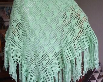 Triangular Hand crocheted shawl