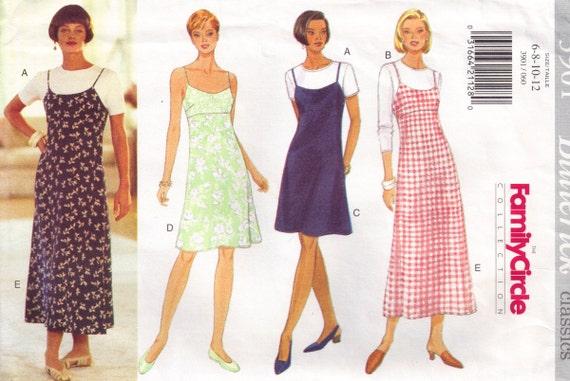 Butterick 3901  Sundress Maxi Slip Dress Sewing Pattern Size 6, 8, 10, 12 bust 34