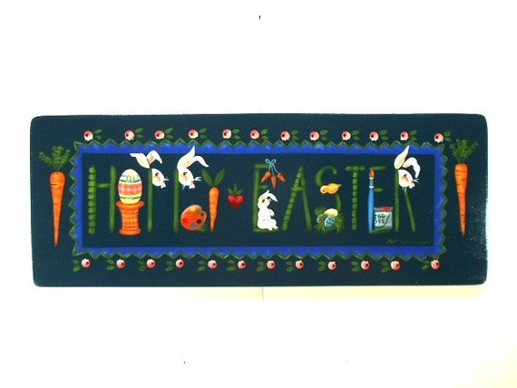 Happy Easter Sign Decorative Arts Wall Hanging 228