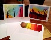 Original Tree Painting Notecards