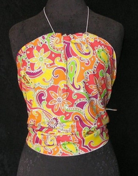 Flower Power Halter Top, Fits Women and Teens Size 0 to 12