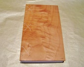Handmade Wood Coptic Journal -- Maple
