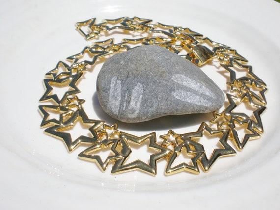Vintage Rock Star Necklace Collar Gold
