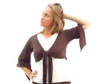 Butterfly Bolero/Wrap Top - Made to Order from Organic Fabric - Many Colors to Choose From
