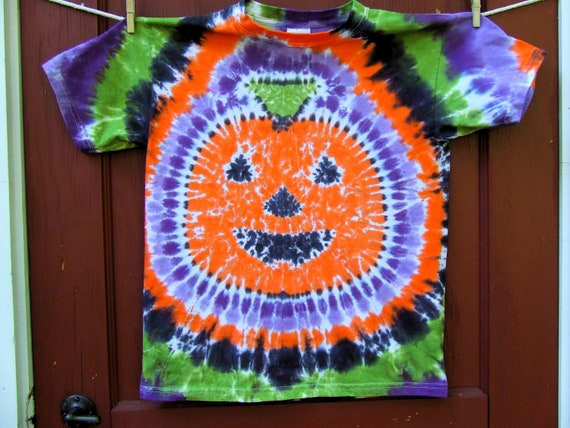 items similar to pumpkin jack o lantern halloween tie dye