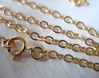 """Shop Sale ..16 18 20 22 24 30 32 36"""", FINISHED Chain, 14k Gold Fill,2.4 mm Flat Cable, g4.32 g4.16 g4.18 g4.20 g4.24 g4.30 g4.36 tpc"""