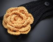 Head Wrap - Purdue University Boilermaker flower headwrap.