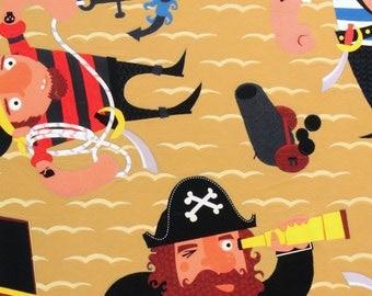 Captain Redbeard in Ochre by Alexander Henry - 1 Yard