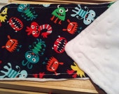 Monsters burp cloth