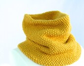 Cowl in Yellow, Mustard Scarf, Neck Warmer