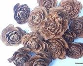 "2""-2.5"" Roses  16 Cedar Roses  for Crafting, Potpourri,Large Wood Roses  Natural Cedar Roses 2-2.5"" inch"