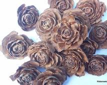 16 Cedar Roses  for Crafting, Potpourri, Natural Cedar Roses