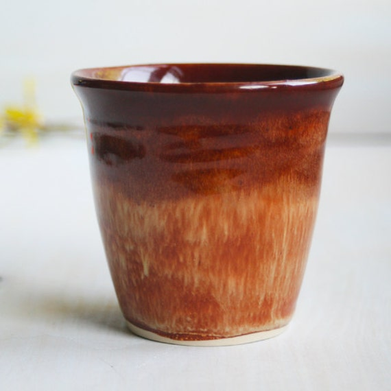 Ceramic Cup - Glazed in Warm Rust and Brick Red - Handmade Stoneware Drinking Vessel for Hot or Cold Beverages