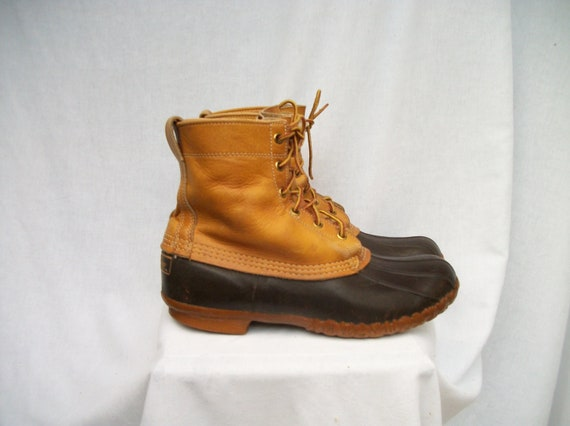 Boot SALE 70s LL Bean Duck Boots Mens size 9 Ladies size 10-11 Maine Hunting Shoe