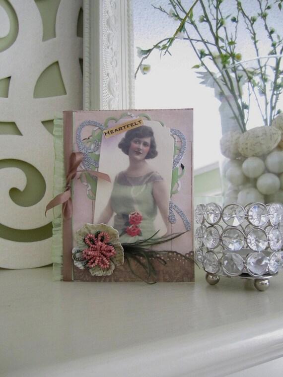 Vintage Style Card - Friendship Card - Card for Mother - Grandmother Card - Heartfelt Card