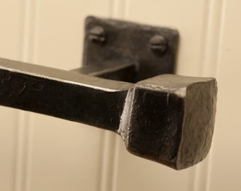 "24"" Frithia Towel Bar - Hand Forged Iron"