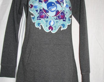Dreamcatcher Hoodie Dress - size medium