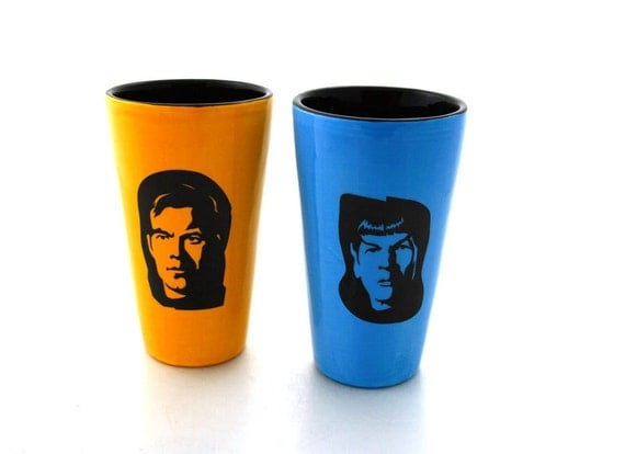 Star Trek (R) Inspired Tumblers- set of two tall tumblers