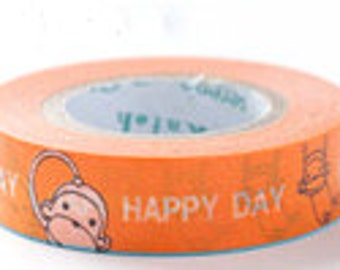 Shinzi Katoh Masking Tape - Naughty Monkey - Discontinued