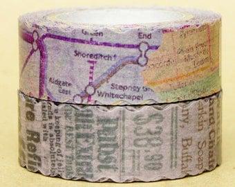 NamiNami Washi Masking Tape - Vintage Map & Paper