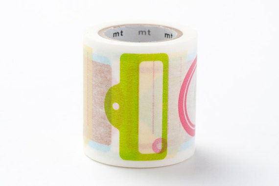 mt ex Washi Masking Tape - Colourful Tags - Pop Colours