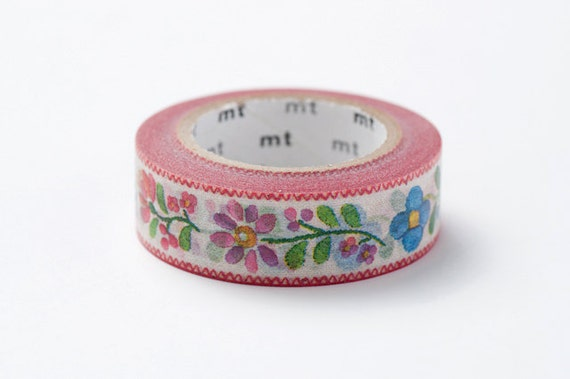 mt ex Washi Masking Tape - Floral Embroidery