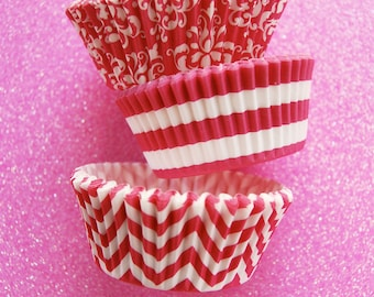 Assorted Pink & White Cupcake Liners Standard Size 45 per pack