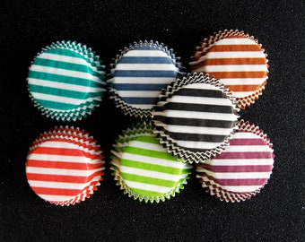 Assorted Candy Stripe Cupcake Liners (70)