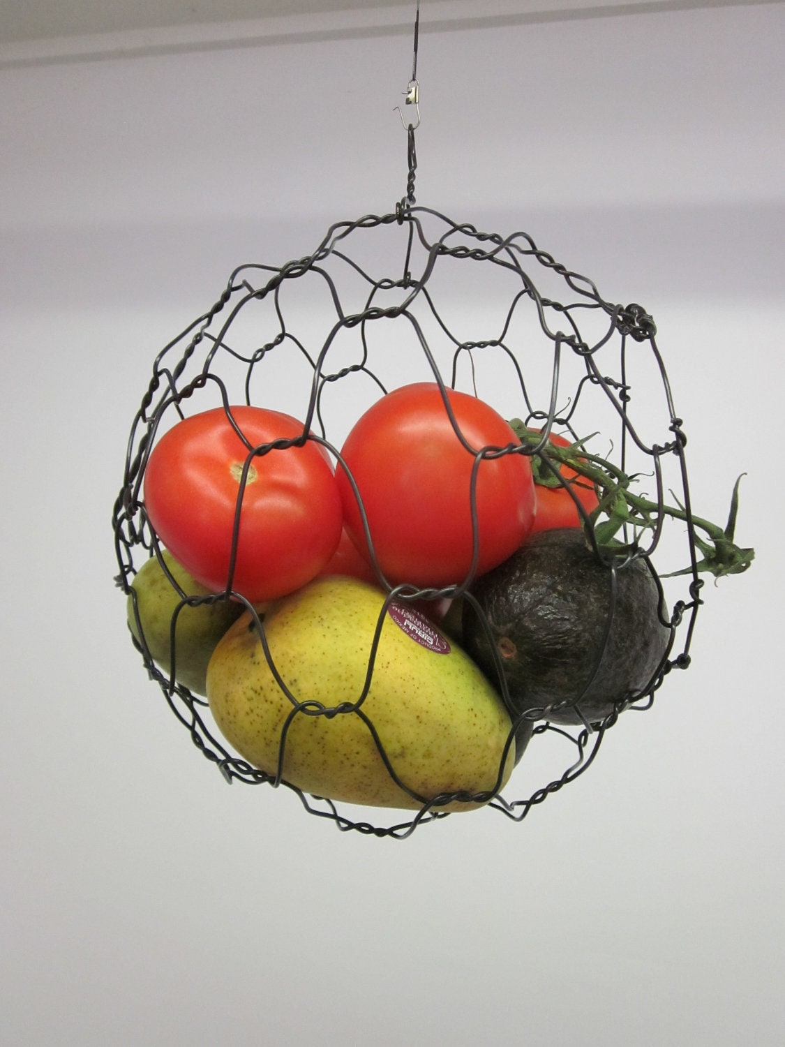 Wire Hanging Fruit Or Vegetable Sphere Basket By