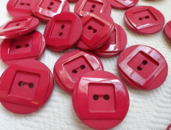 Raspberry Vintage Buttons - LAST in Stock