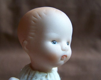 Vintage 1980's Soft Body Porcelain Head, Arms and Legs Russ Berrie Doll