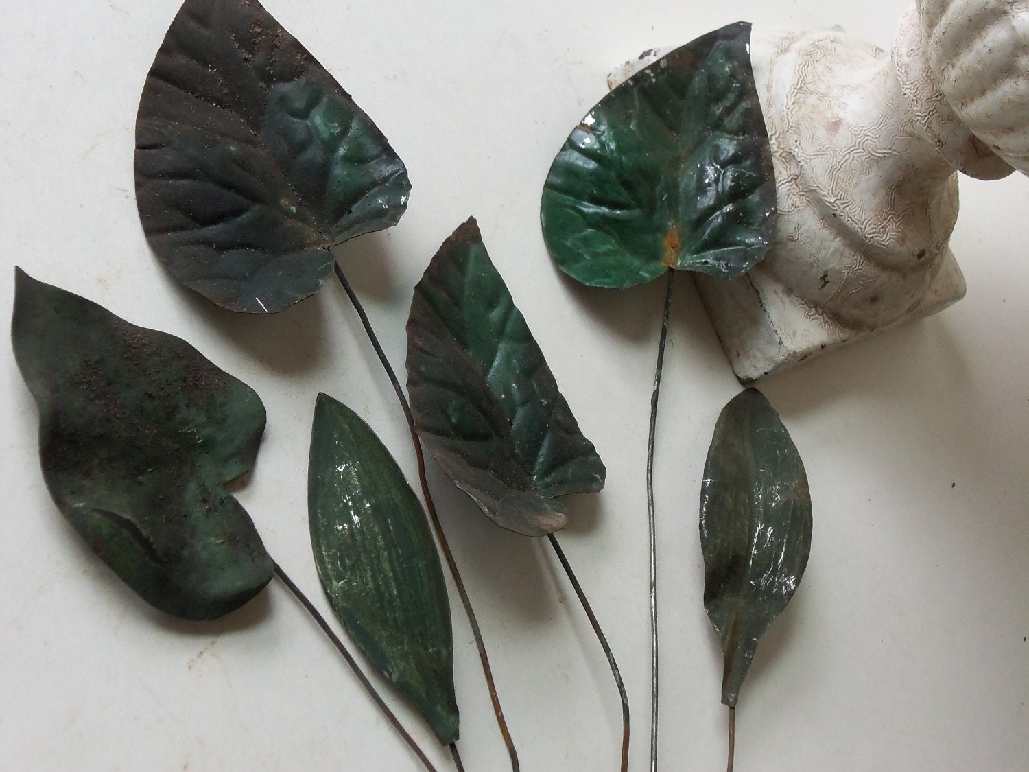 Antique Toleware Leaves