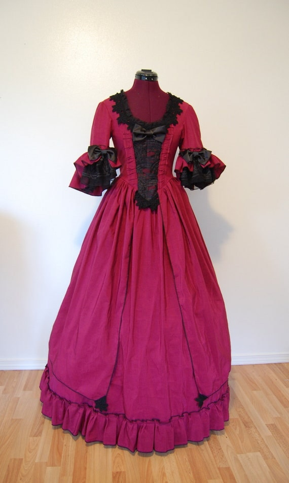 Super closet cleaning SALE Steampunk Marie Antoinette rococo Goth Victorian inspired costume dress