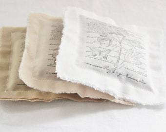 Shabby Cottage Lavender Pillows - Scented Sachets - Mothers Day Gift