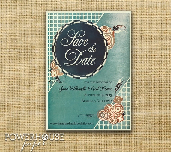 Vintage Musical Theater Poster Save the Date