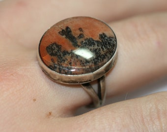 Vintage Sterling and Stone Ring