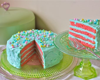 cake stand-cake stands--cake saver-depression glass cake plate-domed cake cover-custom cake saver-retro cake saver-vintage kitchen