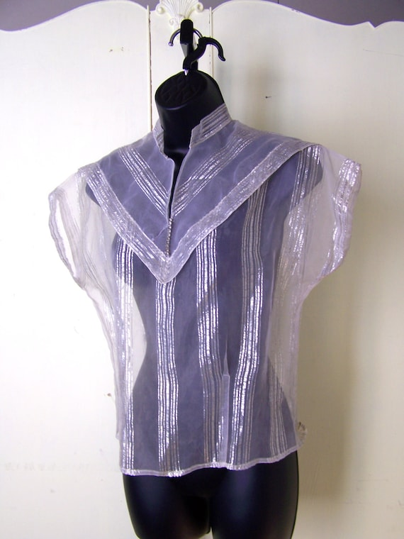 Late 1940s Sheer shirt size M