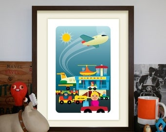 Vintage Fisher Price A3 Airport Artprint (Third Edition)